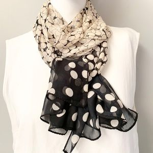 "🎈20% OFF SALE🎈""Silk Polka Dot Scarf"""